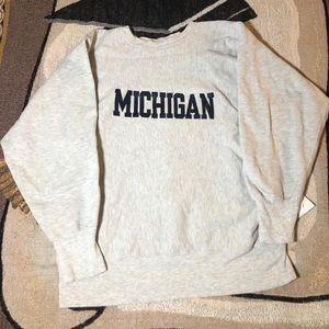 Vintage Champion Reverse Weave Michigan Crewneck